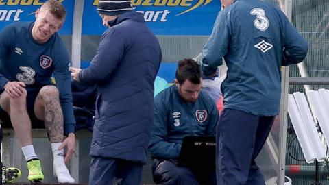 James McClean limped out of a training session with the Republic of Ireland