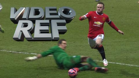 Video Ref: Is Wayne Rooney tripped by the goalkeeper?