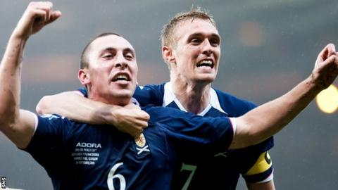 Scott Brown and Darren Fletcher