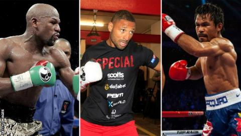 Floyd Mayweather, Kell Brook and Manny Pacquiao