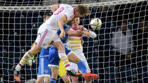 Christophe Berra scored his third goal for Scotland