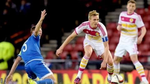 Darren Fletcher captained Scotland against Northern Ireland