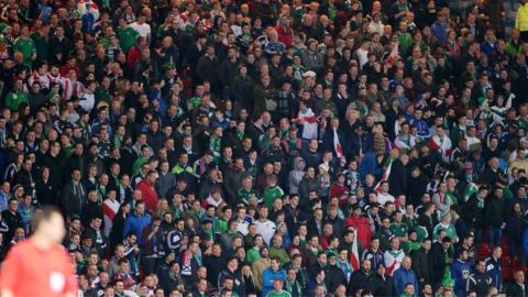 Some of the Northern Ireland fans who attended the friendly international at Hampden Park in Glasgow
