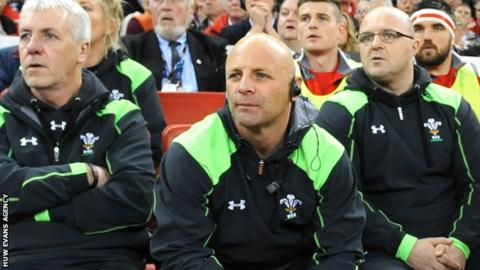 Adam Beard (centre) watches Wales beat South Africa in November 2014