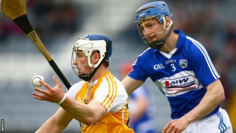 Conor Johnson in action against Laois in last year's Leinster Championship