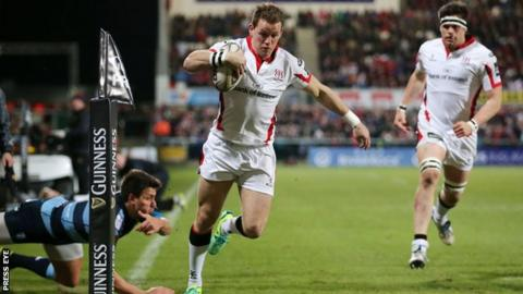 Craig Gilroy scored an early try for Ulster