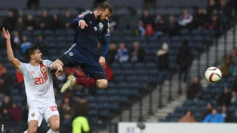 353bd64072d Steven Fletcher scored a hat-trick as Scotland ran out 6-1 winners against