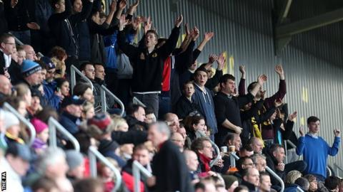 Watford Ladies fans