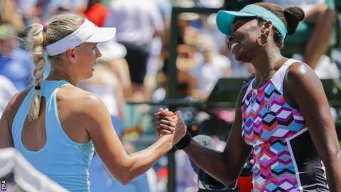 Caroline Wozniacki and Venus Williams
