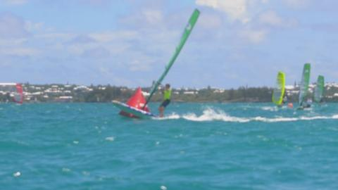 Windsurfing at the 2013 Island Games in Bermuda