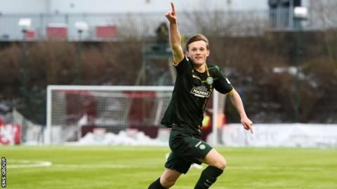 Liam Henderson was on target for Celtic in January's 2-0 win at Hamilton Accies