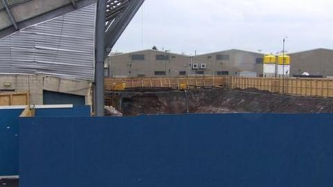The West Stand at Windsor Park has suffered structural damage
