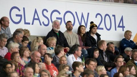 Crowds at the Commonwealth Games in Glasgow last year