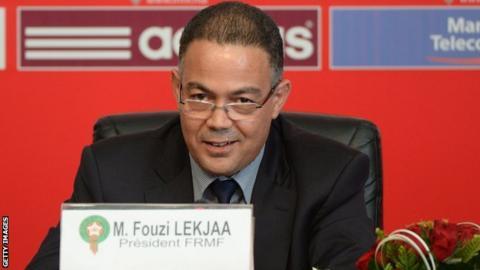 President of the Moroccan Football Federation Fouzi Lekjaa