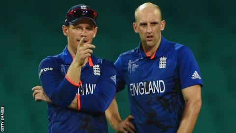 Eoin Morgan and James Tredwell