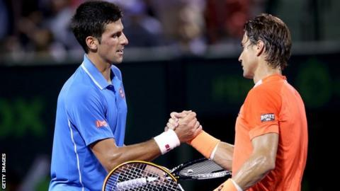 Novak Djokovic and David Ferrer