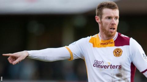 Motherwell midfielder Stephen Pearson