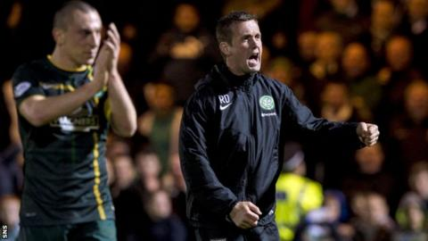 Ronny Deila (right) warned fans to expect more tough games from clubs battling relegation