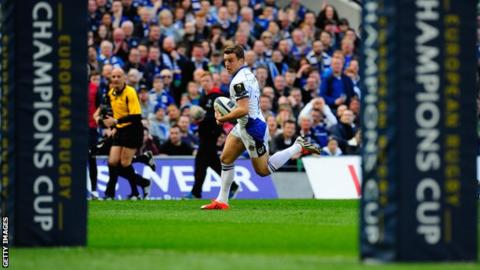 George Ford scores Bath's first try