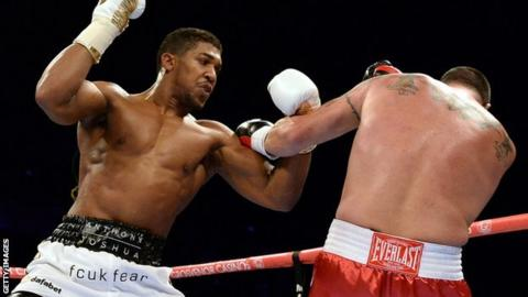 Anthony Joshua (left) and Jason Gavern