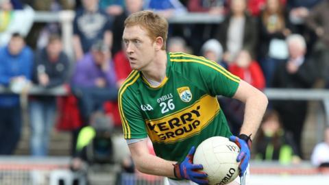 Colm Cooper made his return to action for Kerry as a substitute in the Division One match against Tyrone at Healy Park