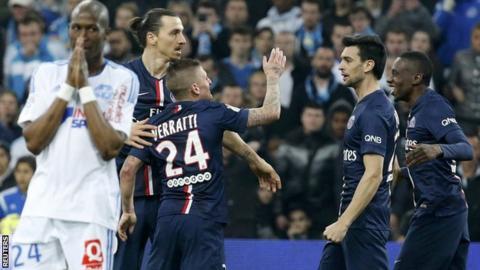 Paris St-Germain celebrate