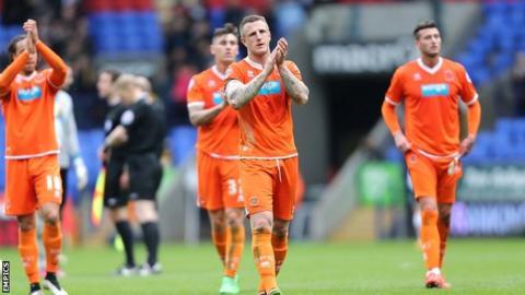 Blackpool defender Peter Clarke