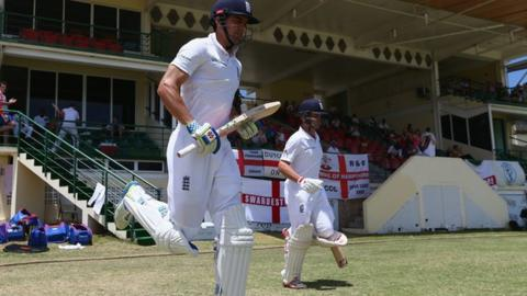 England's new-look opening partnership of Alastair Cook and Jonathan Trott
