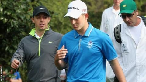 Bradley Neil and Rory McIlroy shared a practice round at Augusta