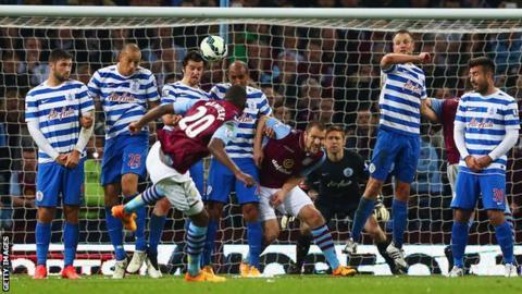Christian Benteke's hat-trick took his tally to nine Premier League goals this season