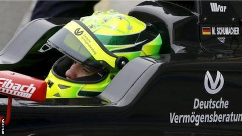Michael Schumacher's son Mick Schumacher
