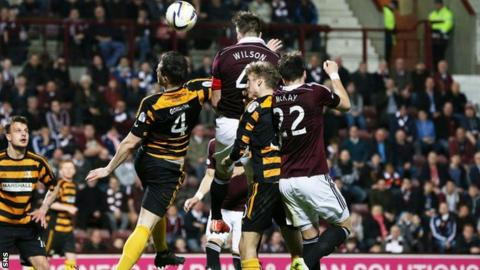 Danny Wilson scores for Hearts against Alloa Athletic