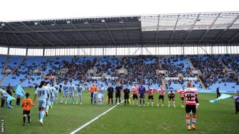 Coventry City struggling to fill the Ricoh Arena