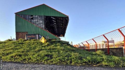 The Oval in east Belfast is home of Irish Premiership club Glentoran