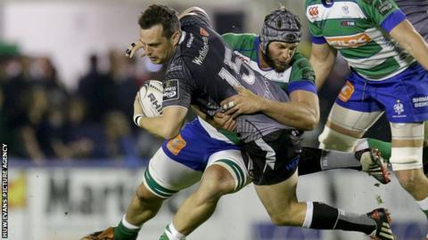 Dan Evans' try was crucial in returning Ospreys to the lead in Treviso