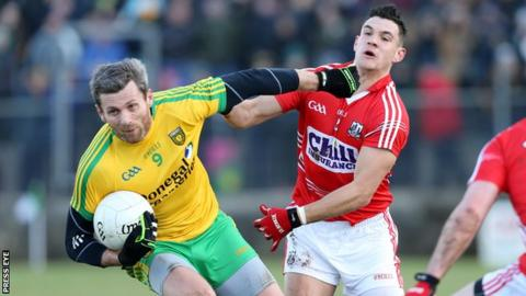 Christy Toye battles with Tomas Clancy in last month's league game