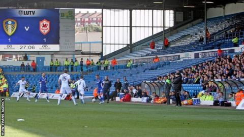 The empty seats in the away section at Elland Road were clear to see for the Leeds v Cardiff game