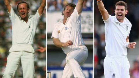 Derek Underwood, Ian Botham, James Anderson