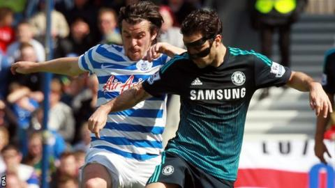 Joey Barton and Cesc Fabregas