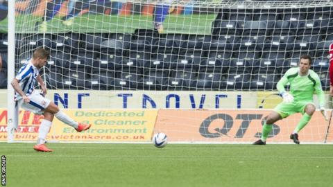Craig Slater failed to beat Scott Brown with a stoppage-time penalty kick