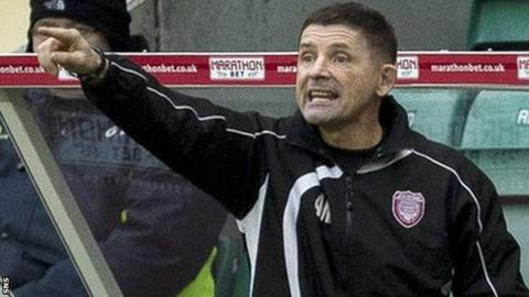 Allan Moore was appointed Arbroath manager in June 2014