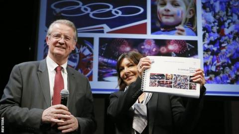 Paris city mayor Anne Hidalgo accepts the feasibility study for a potential bid for the 2024 Olympic and Paralympic Games in Paris