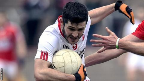 PJ Lavery in action for Tyrone