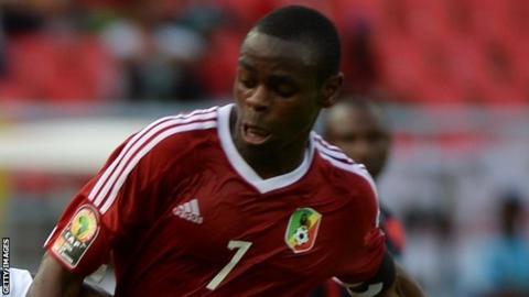 Congo midfielder Prince Oniangue