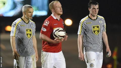 Liam Boyce scored in stoppage time to complete his hat-trick