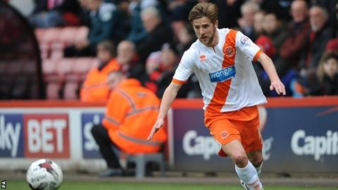 Michael Jacobs played five games on loan at Blackpool