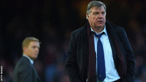 Garry Monk (L) and Sam Allardyce (R)