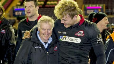 South African Alan Solomons (left) became Edinburgh head coach in 2013