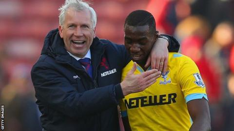 Alan Pardew and Yannick Bolasie