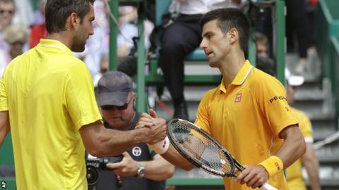 Marin Cilic (left), Novak Djokovic